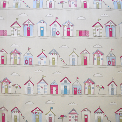 Beach Huts Stripe-Pink