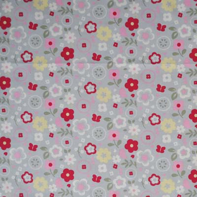 Kids curtain fabric for curtains blinds and bedding for Grey childrens fabric
