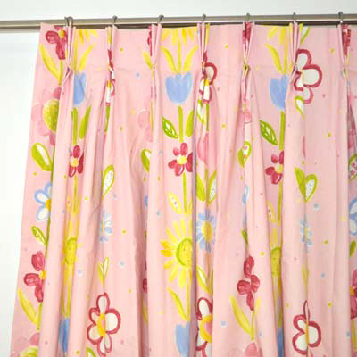 Pinch pleat Curtain Heading on Ready Made kids curtains for child's room