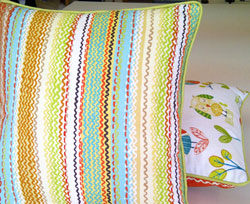 Cushions for childs room in choice of kids fabrics
